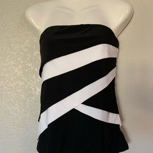 WHBM strapless top